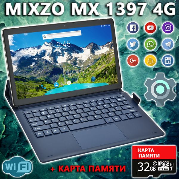 АКЦІЯ! Супер Ігровий Планшет-Телефон MiXzo MX1397 4G 11.6 '' 3 / 32GB BT FM GPS + Карта 32GB