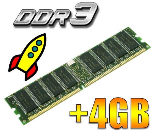Увеличение RAM +4GB DDR3