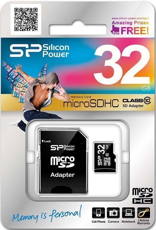 Карта пам'яті 32GB Silicon Power MicroSDHC