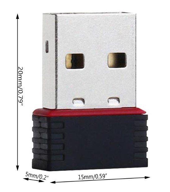 Міні USB WIFI мережевий адаптер 802.11n