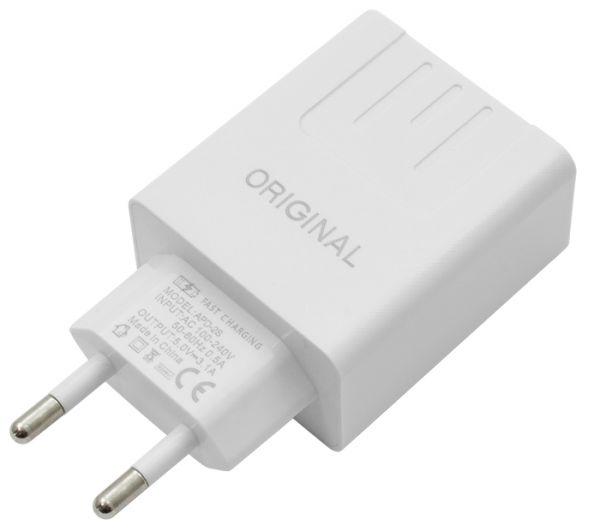 Оригінальна Універсальне Якісне мережевий зарядний пристрій Original APD-2S з вимірником струму (Android / IOS)) з кабелем Mivo MX-41M з роз'ємом Micro USB