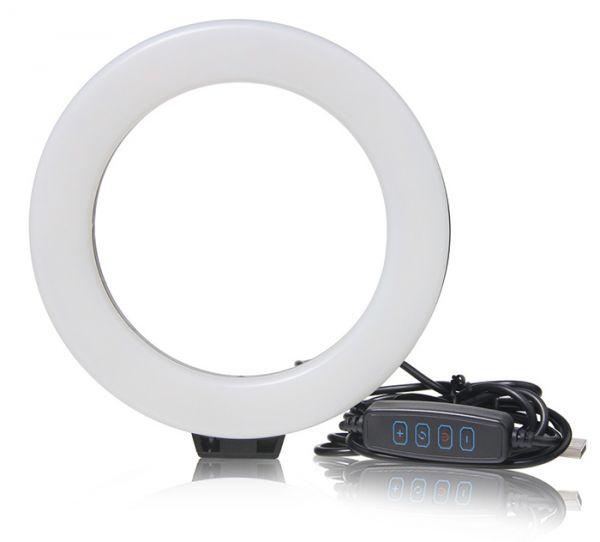 АКЦІЯ! Кільцева світлодіодна Селфі лампа 20 см RING FILL LIGHT
