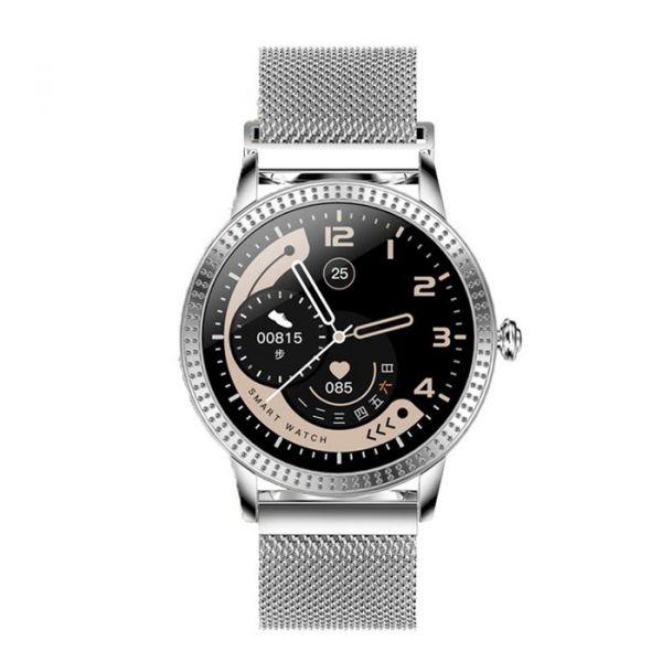 Умные смарт часы Lemfo CF18 Pro Metal с измерением давления и пульса