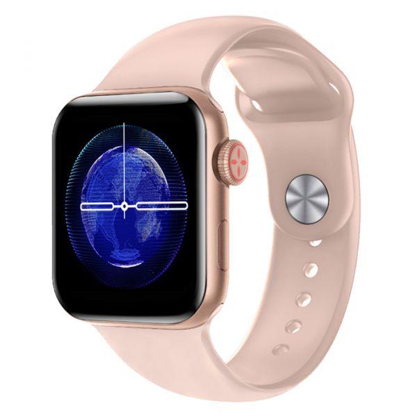 Умные часы Linwear LW15 с пульсоксиметром и тонометром Pink