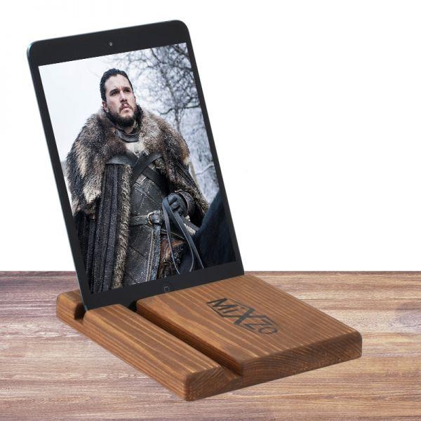 Дерев'яна еко підставка для планшета або смартфона з натурального дерева