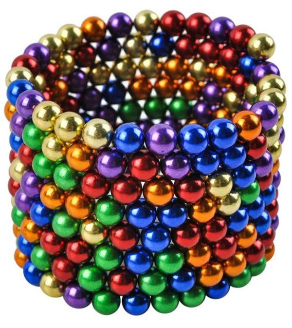 Неокуб райдужний 216 шт магнітні кульки головоломка Neocube 5мм