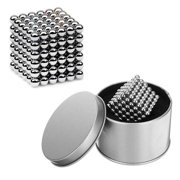 Крутой Серебряный Неокуб головоломка на магнитных шариках (216шт) Neocube 5мм)