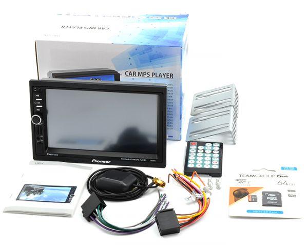 Автомагнітола 2 DIN MP5 Pioneer 7020G GPS + AV Bluetooth + Карта пам'яті 64GB