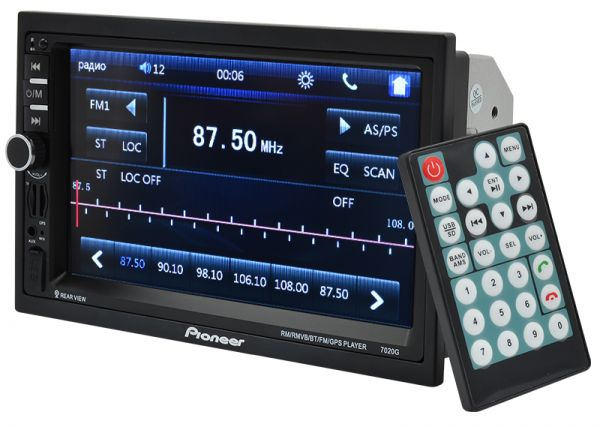 Автомагнитола 2 DIN MP5 Pioneer 7020G GPS+AV Bluetooth + Карта памяти 16GB