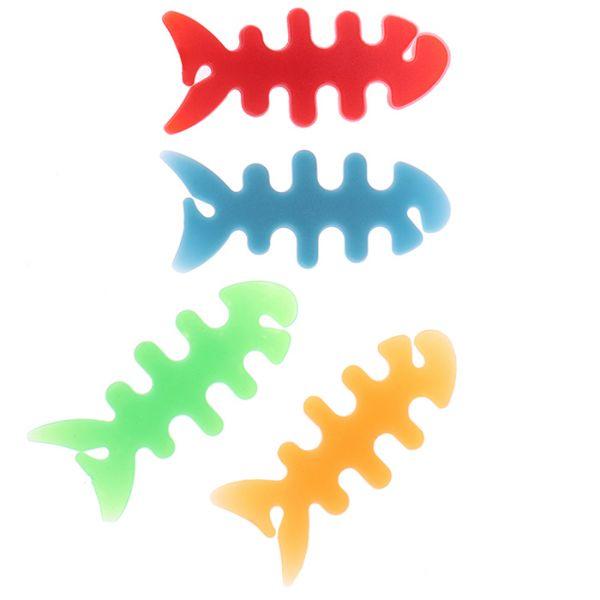 Силиконовый держатель органайзер для наушников в виде рыбки