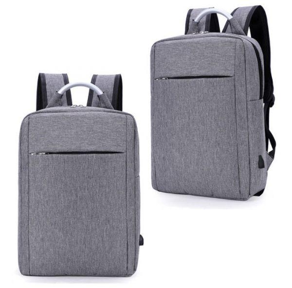 Сучасний рюкзак для ноутбука з USB портом і металевою ручкою