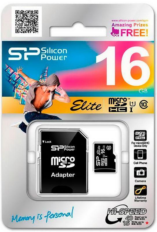 Карта пам'яті 16GB Silicon Power MicroSDHC