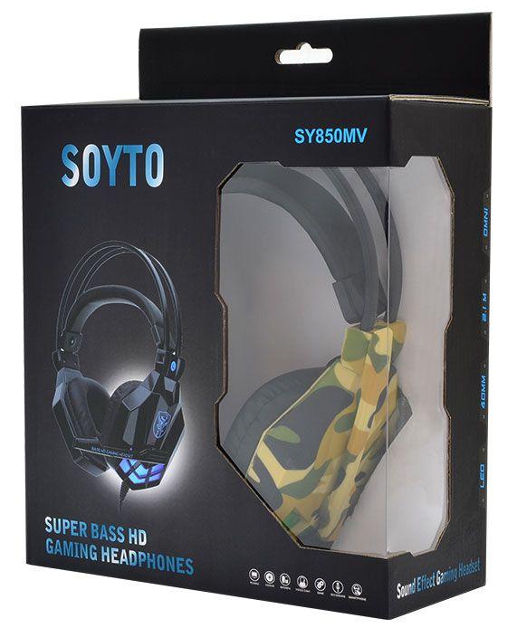Крутые игровые наушники с микрофоном для геймеров SOYTO SY850MV Camouflage  (ОРИГИНАЛ)