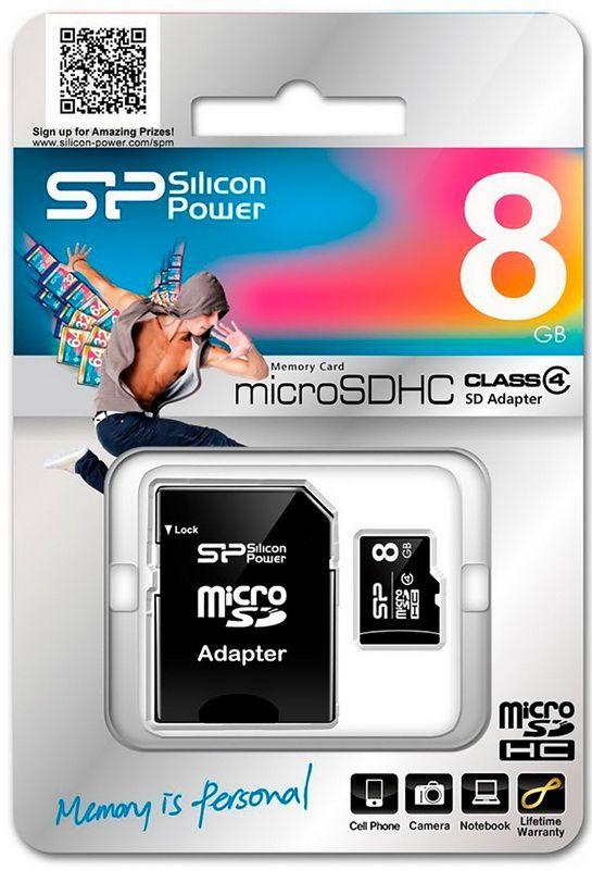 Карта пам'яті 8GB Silicon Power MicroSDHC