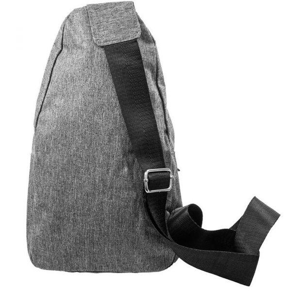 Сумка-слінг чоловіча через плече Instinct Fashion нагрудна спортивна з смужкою